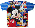 MICKEY MOUSE DONALD DUCK GOOFY vibrant blue summer t-shirt S-XL 3-8y Free Ship