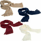Pia Rossini Micro Fleece Scarf Red White Blue Beige Winter Thermal Ladies Mens