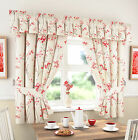Kitchen Curtains Red Libby includes Tie Backs (pelmet sold separate)