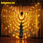 gold LED isis wings belly dance club wear prop solid color NEW light glow show