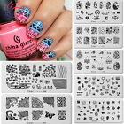 Blueness 12Style Nail Art Transfer Foil Stamping Image Template Plate Tool JH114