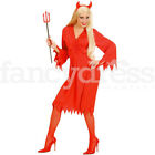 Womens Ladies Sexy Red Devil Halloween Party Fancy Dress Costume Outfit NEW