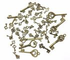 Keys Steampunk Mix of Sizes & Colours Vintage Charms Parts Jewellery Findings