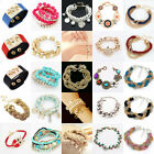 New Fashion Lots Style Bracelet Gold Rhinestone Cuff Lady Gift Hot Women Gift