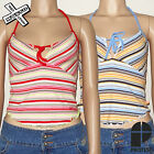 PROTEST 'SUZEE' WOMENS HALTER TOP SHIRT PINK BLUE STRIPE 8 10 12 14 BNWT RRP £18