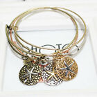 New Fashion Women Jewelry Love Heart Starfish Pendant Charm Bracelet Bangle