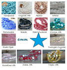 6mm Star Czech Glass Beads 50 Choose Color