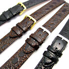 Replacement Watch Strap Band in Glossy Croc Grain Leather 16mm 18mm 20mm