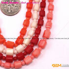 "New Red Coral Graduate Gemstone Jewelry Making Loose Beads Strand 15""Size 3-6mm"