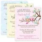 Owl Baby Shower Party Invitations Custom Personalized Invitation Owls