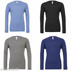 BELLA+CANVAS MENS LONG SLEEVED V NECK  T-SHIRT CV3425
