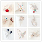 Lots Hot Sell Fashion Stylish Jewelry Wedding Bridal Alloy Crystal Brooch Lady