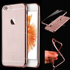 Shockproof Silicone/Rubber Metal Bumper Clear Back Case Cover For iPhone 6 6s