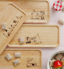 Moomin Wooden Plate Large Tray Food Tea Cookie Dish Cute Anime Serving Container