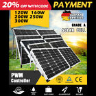 12V 120W 140W 160W Folding Solar Panel Kit Mono Boat Camping Power Charging