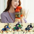 Women Winter Warm Gloves Xmas Thick Mittens Knitted With Rope Christmas Gifts
