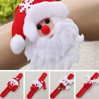 10Pcs Kids Gift Xmas Santa Deer Beer Slap Circle Bracelet Party Christmas Decor