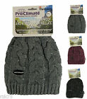 Ladies Waterproof Cable Knit Thinsulate Beanie Hat, Thinsulate Thermal Hats, L11