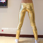 NEW MEN'S SUPER SEXY STAGE CLOTHING SKINNY PANTS FANCY DRESS GOLD SILVER XY695