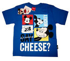 Boys MICKEY MOUSE short sleeve cotton summer t-shirt Sz S-XL Age 4-9yrs FreeShip