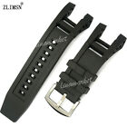 33mm x 15mm New MEN high quality black Silicone Rubber watch band strap for INV