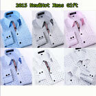 2015 New Mens Luxury Casual Stylish Slim Fit Long Sleeve Casual Dress Shirts