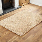X LARGE LARGE MEDIUM SMALL BEIGE FEATHER STYLE 4CM HIGH PILE MODERN THICK RUGS