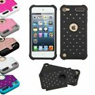 Hybrid Silicone Rhinestone Diamond Bling Impact Case For iPod Touch 5 & Touch 6