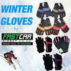 PAIR OF THICK SKIING WINTER MENS LADIES UNISEX THERMAL SNOW GLOVES INSULATED