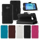 Luxury PU Leather Wallet Flip Cover Stand Case For Samsung Galaxy J1 Ace SM-J110