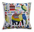 LL408a Green Blue White Black Mustard Animal Cotton Canvas Pillow/Cushion Cover