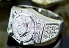 Men Bling 1.5 Carat Cubic Zirconias Stone Hip Hop Ring MR126
