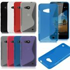 S-Line Slim Soft TPU Rubber Phone Back Gel Case Cover For Microsoft Lumia 550