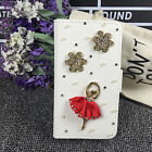 Bling Rhinestone Flip PU Leather Card Holder Wallet Phone Case Cover Pouch O5