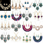 New Women's Korean Individuality Pendant Earrings Necklace Charm Jewelry Set