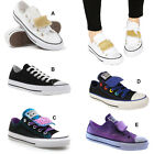 Ladies Converse All Stars Girls Double Tongue Juniors Chuck Taylors Trainers