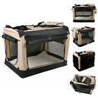 Transportbox Faltbare Hundebox Katzenbox Hundetransportbox Beige S-XXXXL Neu
