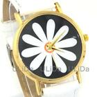 NEW Fashion flowers Women Flower PU Leather Rose Gold Dial Quartz Dress Watch