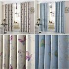 Butterfly Blackout Curtains Pair Of Ready Made Eyelet Thermal Curtain Kids Girls