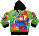 DC SUPERFRIENDS BATMAN SUPERMAN Boys vibrant hooded sweatshirt jacket S-XL 4-10y