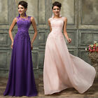 Elegant Lace Tulle Sleeveless Evening Dresses Bridesmaid Long Prom Gown Pageant