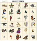 COWBOY RIDERS. CD machine embroidery designs files most formats c & w