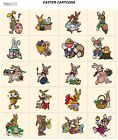 EASTER CARTOONS. CD machine embroidery designs files most formats holidays