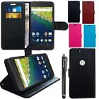Wallet Case+ Tempered Glass Screen Protector+ Stylus For Vodafone Smart Prime 6