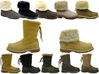 WOMENS CATERPILLAR CAT BRUISER SCRUNCH LEATHER FAUX FUR ANKLE BOOTS SIZE 3 - 8