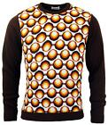 NEW MENS MADCAP ENGLAND RETRO 70s Seventies GEO PATTERN KNIT JUMPER MC231 A4A/B/