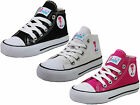 GIRLS KIDS TODDLER MINI MOJO HI TOPS PLIMSOLLS TRAINERS SHOES BOOTS SIZES 7 - 2