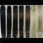 "AAA Women's 28"" Straight Remy 100% Human Hair Extensions Weft 100g More Colors"