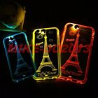 Shiny LED Flash Light UP Reminder Incoming Call Case Cover For iPhone 6 6S Plus