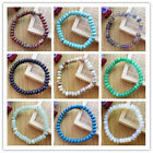 8x5mm Beautiful Mixed Stone Rondelle  stretchy bracelet 7.5 inch LX7